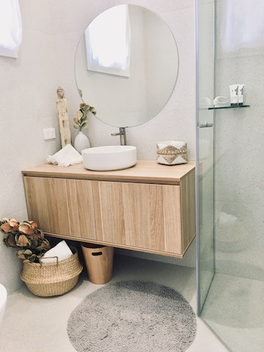 Bathroom, Calm and Coastal Self Contained Unit in the Heart of Merewether