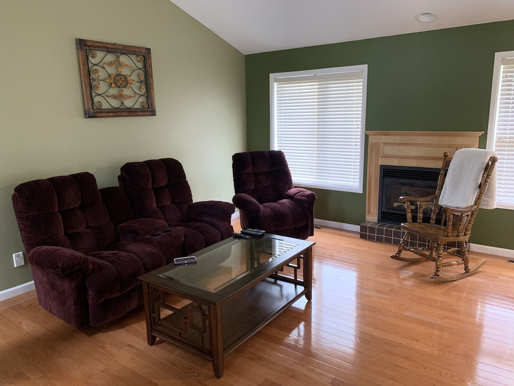 Living Room, This Beautiful Rancher Style Home Located Near the Majestic Well Grey Park