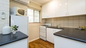 Microwave, oven, stovetop, toaster