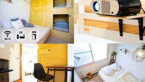 Desk, laptop workspace, free WiFi