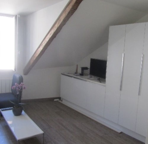 Living Room, Cozy one Bedroom/studio in Center old Town 2 min From Lake