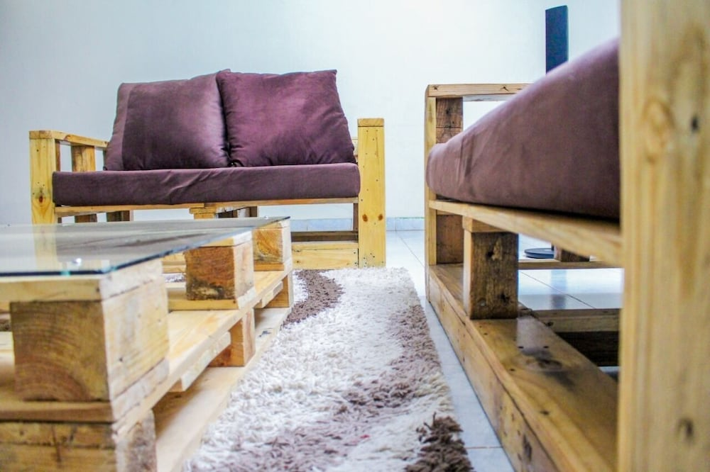 Living Room, Viba Pallet House, Your Home Away From Home