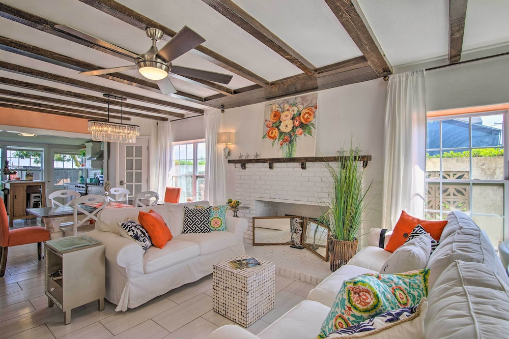Living Room, Waterfront Port Isabel Family Home w/ Pool & Pier!