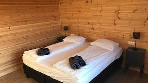 Blackout drapes, bed sheets