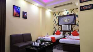 Select Comfort beds, minibar, in-room safe, blackout drapes