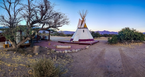 Tipi in the Mojave Desert Near Las Vegas / Ravens Nest