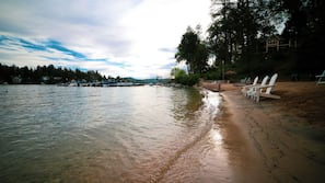 On the beach, beach massages, beach yoga, beach volleyball