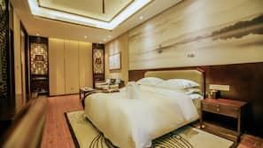 Premium bedding, memory foam beds, minibar, individually decorated