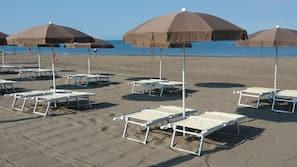 Am Strand, kostenloser Shuttle zum Strand
