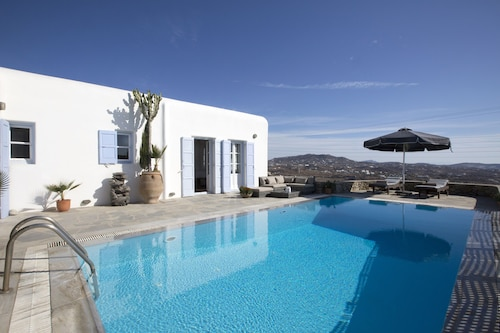 Psarrou villa for 10 guests, stunning sea views  by VillaRentalsgr