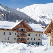 Studio in Valloire, With Wonderful Mountain View, Furnished Balcony and Wifi - 1 km From the Slopes