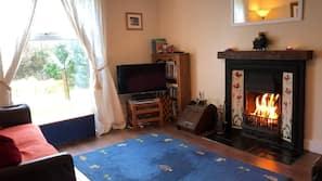 Flat-screen TV, DVD player