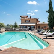 Villa With 5 Bedrooms in Montespertoli, With Wonderful Mountain View, Private Pool, Enclosed Garden