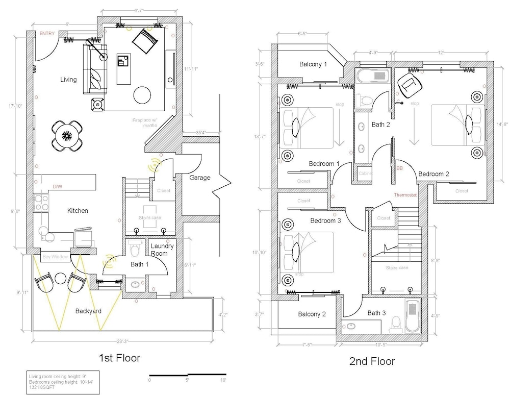 Floor plan, WanderJaunt | Emerald St Townhomes