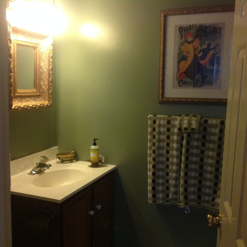 Bathroom, Three Block From Track 10 Minutes From Broadway, Porch Facing Union Ave. In a Victorian Mansion With Only 9 Units