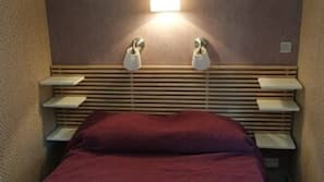 Blackout curtains, iron/ironing board, free rollaway beds, free WiFi
