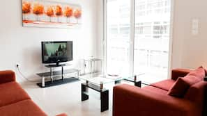 40-cm flat-screen TV with cable channels, TV