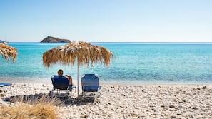 Beach nearby, sun-loungers