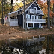 3 Bedroom 6 bed Home two Story With Basement, 3 Decks on Privately Owned Lake