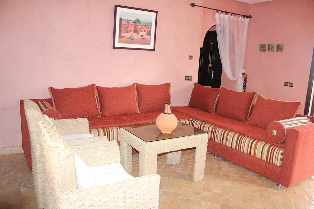 Living Room, Surf & Relaxation Luxury Apartment in the Middle of Argan Trees ....