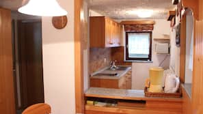 Microwave, dining tables