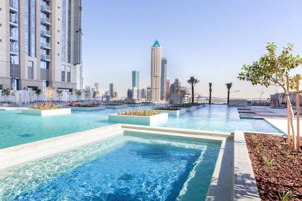 Pool, Exclusive Flat With Canal Views in Al Habtoor