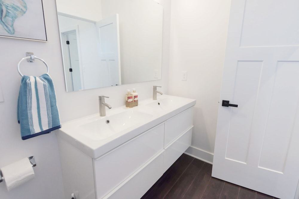 Bathroom, Newly Designed Super Chic Indy Home Near Fountain Square!