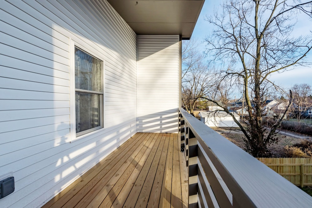 Balcony, Newly Designed Super Chic Indy Home Near Fountain Square!