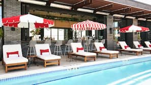 Seasonal outdoor pool, cabanas (surcharge), pool umbrellas