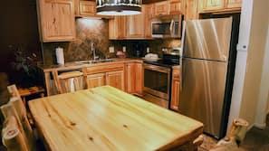 Fridge, microwave, stovetop, dishwasher