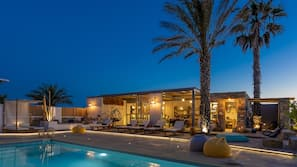 Outdoor pool, open 8:30 AM to 8:00 PM, pool loungers