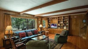 Fernseher, Kamin, DVD-Player, Tischtennisplatte