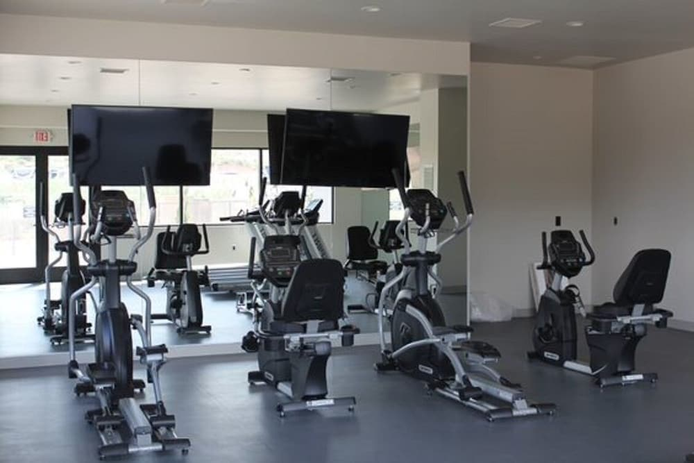 Fitness Facility, Cottage Cabin Sleeps 6 at Resort