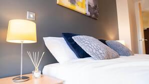 1 soverom, strykejern/-brett, wi-fi og sengetøy