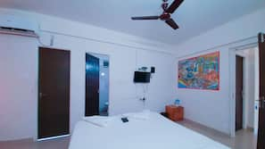 In-room safe, blackout drapes, iron/ironing board, cribs/infant beds