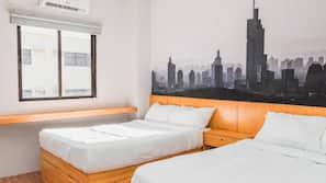 Premium bedding, down comforters, minibar, rollaway beds