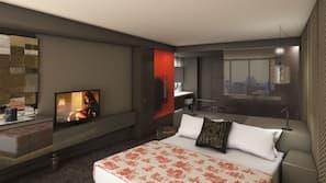 Premium bedding, pillowtop beds, iron/ironing board