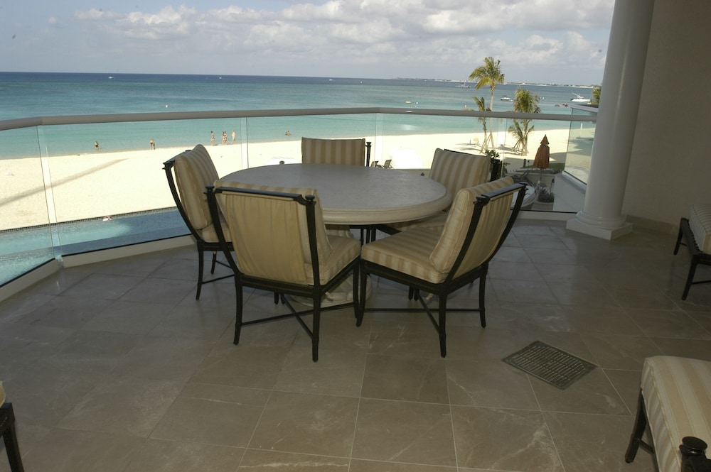Balcony, Luxury Oceanfront Condo on Seven Mile Beach, Grand Cayman