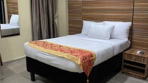 Egyptian cotton sheets, premium bedding, down duvets, minibar