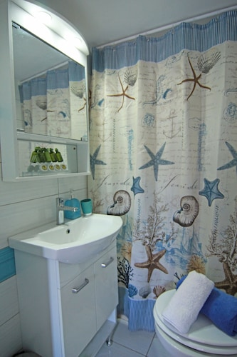 Bathroom, Pasiphae-central Cozy Apartment Close to the sea