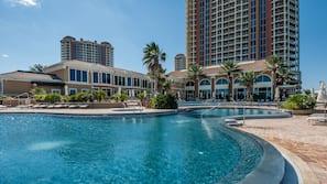 Indoor pool, 7 outdoor pools, open 9:00 AM to 10:00 PM, pool umbrellas