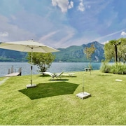 Lake Lugano, Private Beach, Mediterranean