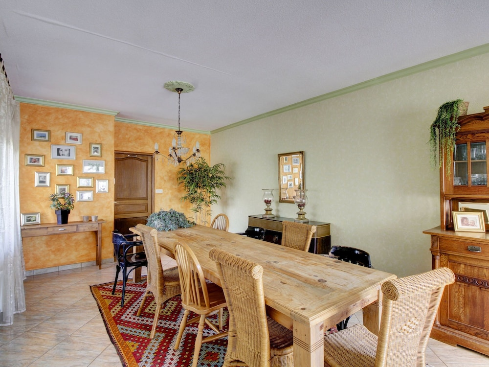 Dining, Quaint Holiday Home in Vanne With Barbecue and Garden