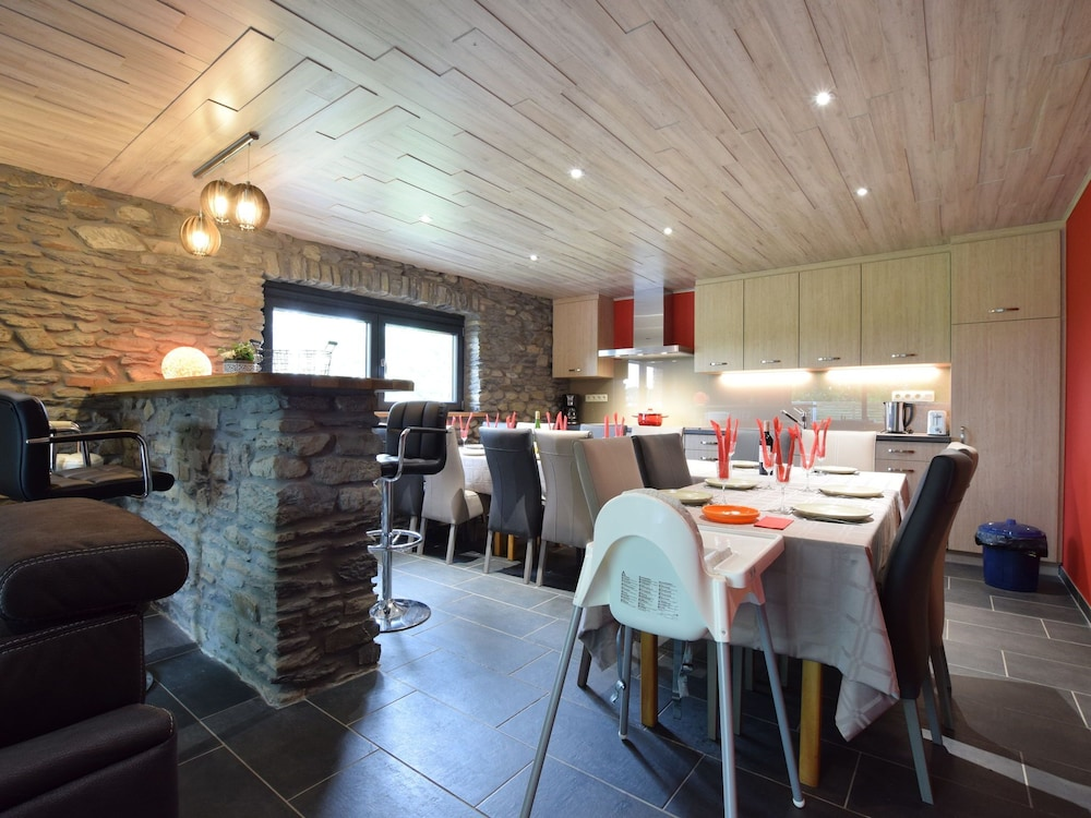 Dining, Chic Holiday Home in Noville With Sauna