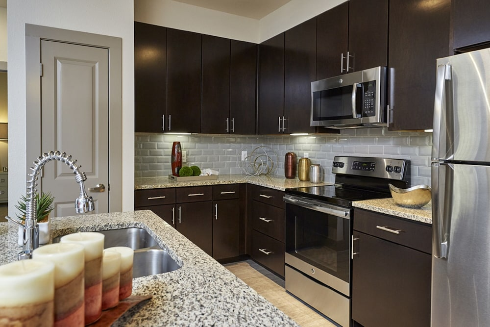 Private Kitchen, Downtown River Apartments by Barsala