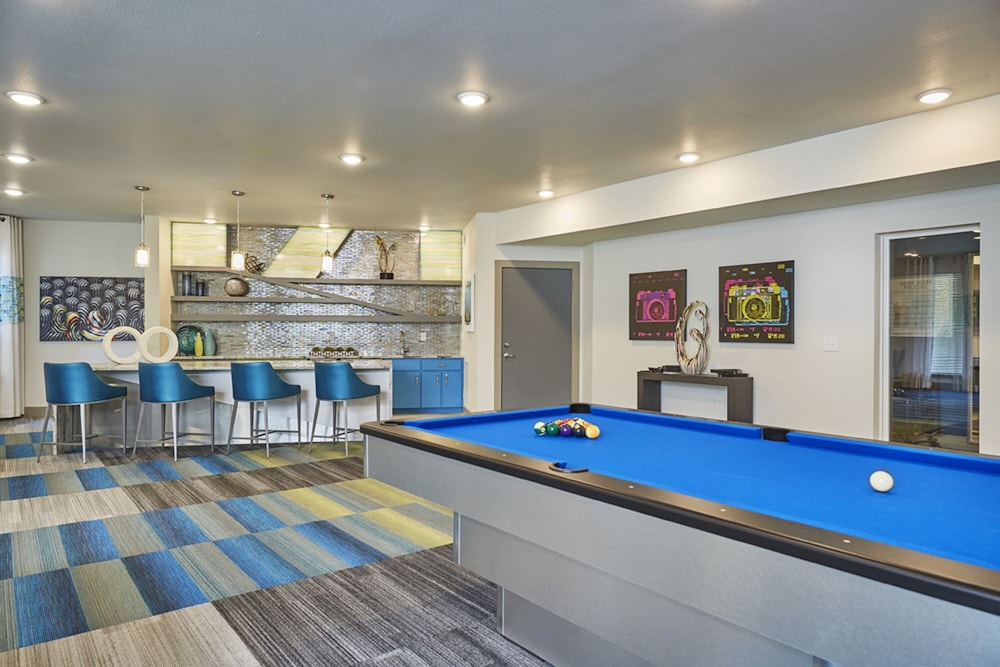 Billiards, Downtown River Apartments by Barsala