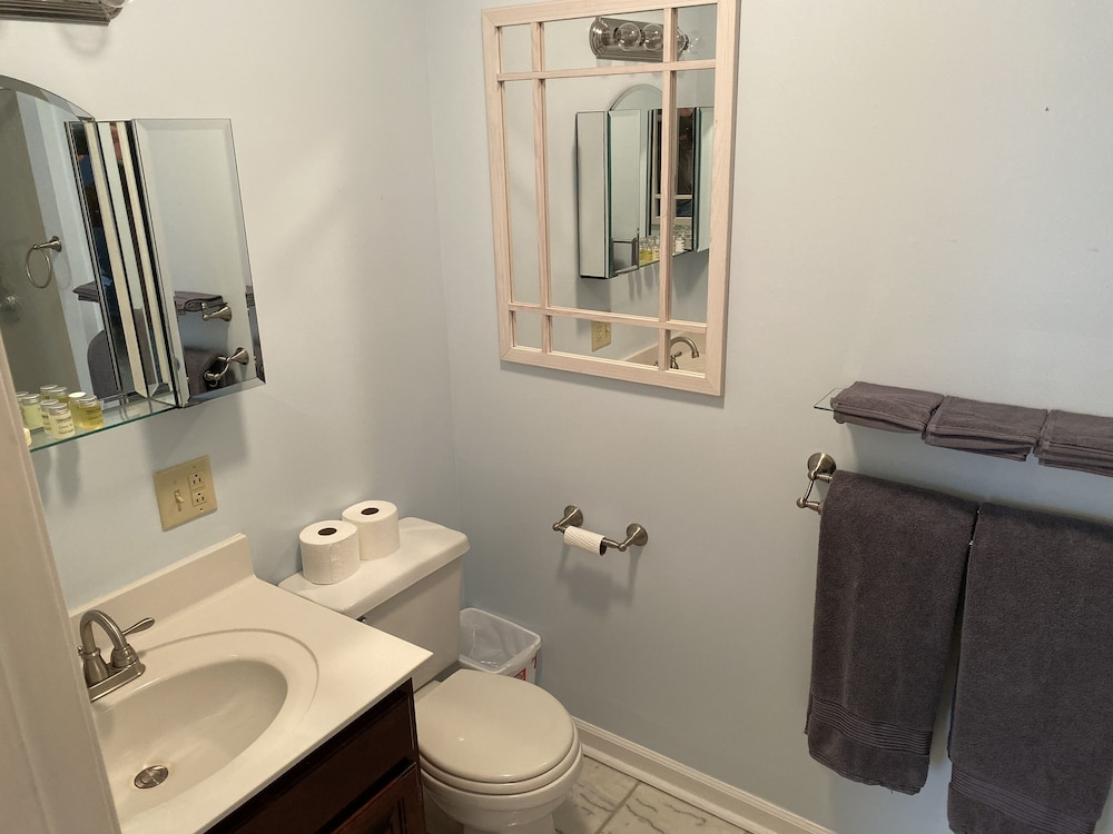 Bathroom, Fully Furnished 3 BR 3 BA House to Escape the Hustle of the City