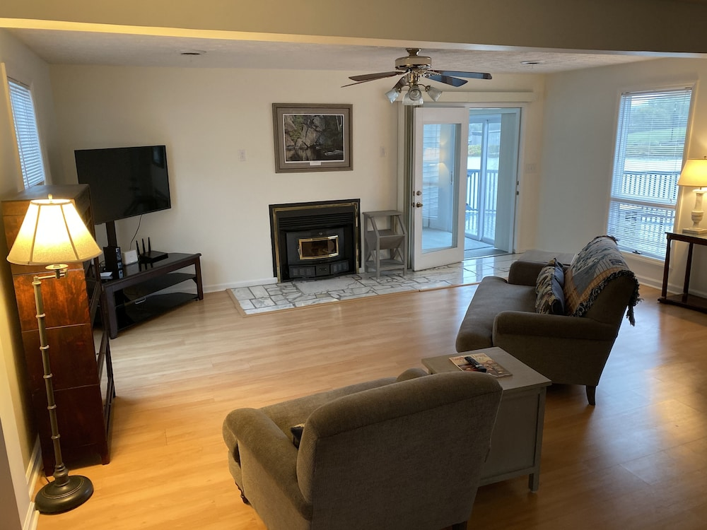 Living Room, Fully Furnished 3 BR 3 BA House to Escape the Hustle of the City