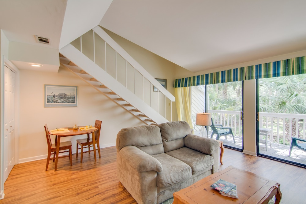 Living Room, Dog Friendly Villa With Free Wifi, Optional Seabrook Club Access, & Golf Views!