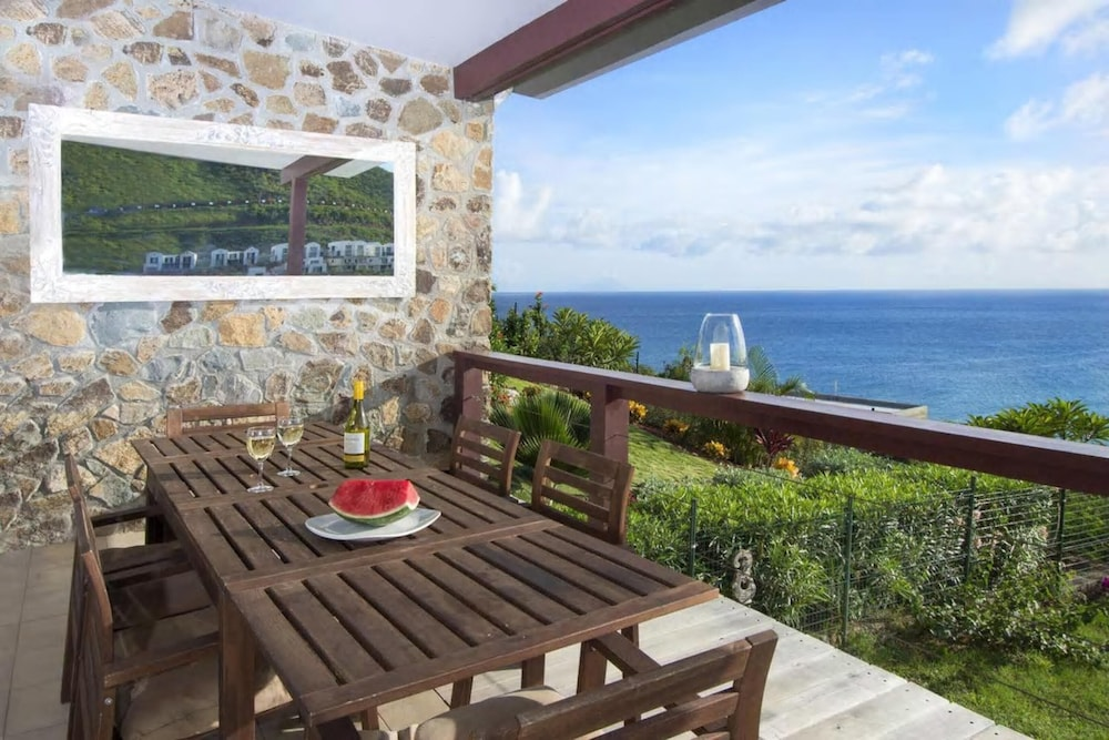 Terrace/Patio, Villa With 3 Bedrooms in Sint Maarten, With Wonderful sea View, Private Pool, Terrace - 200 m From the Beach